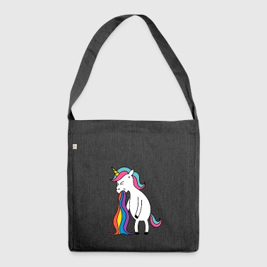 Unicorn rainbow puke. No buck Gagging - Shoulder Bag made from recycled material