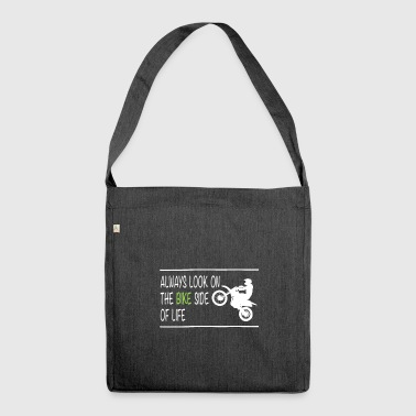 Motocross shirt: the bike side of life - Shoulder Bag made from recycled material