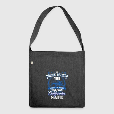 California police official cop aunt gift - Shoulder Bag made from recycled material