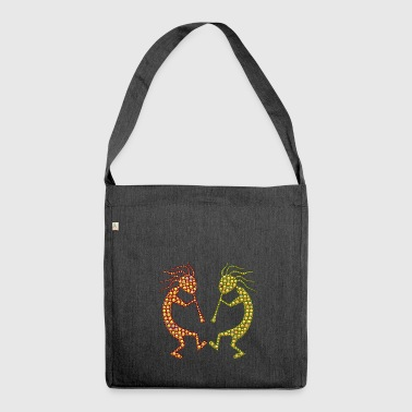 Flute players - Shoulder Bag made from recycled material