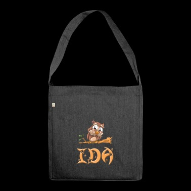 Eule Ida - Schultertasche aus Recycling-Material