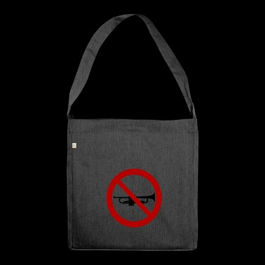 Trumpet prohibited! - Shoulder Bag made from recycled material
