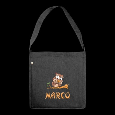 Eule Marco - Schultertasche aus Recycling-Material