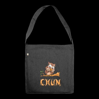Eule Chun - Schultertasche aus Recycling-Material