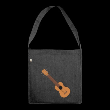 Ukulele music instrument - Shoulder Bag made from recycled material