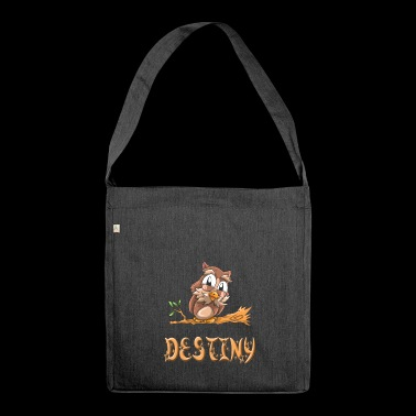 Eule Destiny - Schultertasche aus Recycling-Material