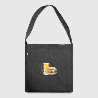 Burger beer - Shoulder Bag made from recycled material