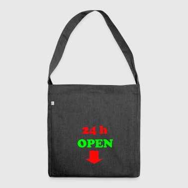 24 h open - Shoulder Bag made from recycled material