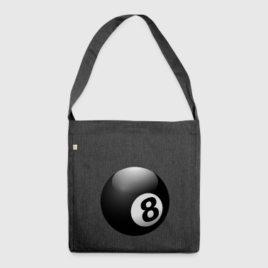 Billiard Ball 8 Ball Black - Shoulder Bag made from recycled material