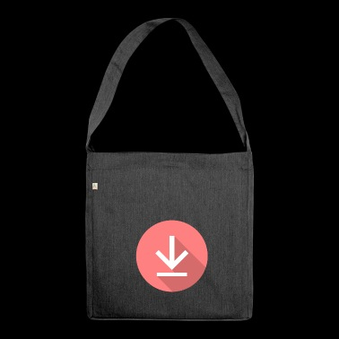 Download icon, download icon - Shoulder Bag made from recycled material
