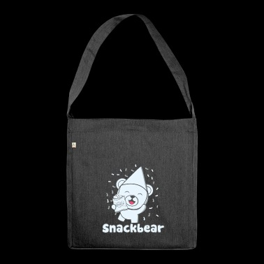 Snack bear / snack bear with hat - Shoulder Bag made from recycled material