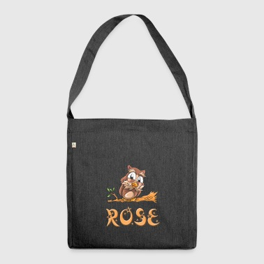 Owl rose - Shoulder Bag made from recycled material