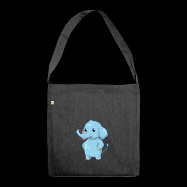 Stehender Elefant - Schultertasche aus Recycling-Material