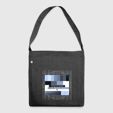 Test picture television screen transmission completion display - Shoulder Bag made from recycled material