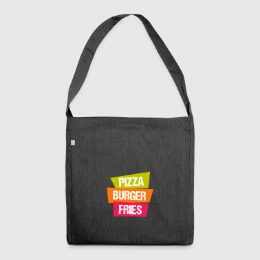 Pizza Burger Pommes - Schultertasche aus Recycling-Material