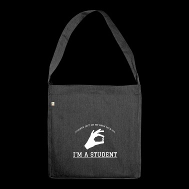 Student Studying Studying Procrastination Gift - Shoulder Bag made from recycled material