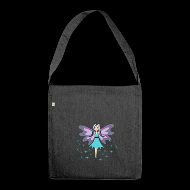 blue fairy mascot - Shoulder Bag made from recycled material