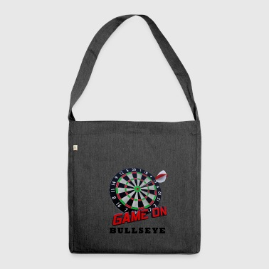 Darts Bullseye Game on - Shoulder Bag made from recycled material