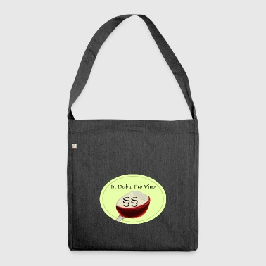 In Dubio pro vino - Schultertasche aus Recycling-Material