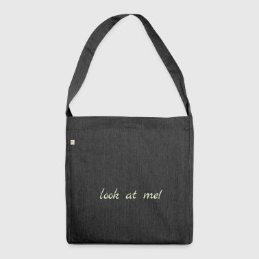 look at me - Schultertasche aus Recycling-Material