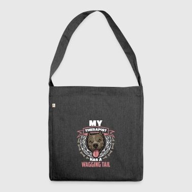 Dog Therapist Gift T-shirt - Shoulder Bag made from recycled material