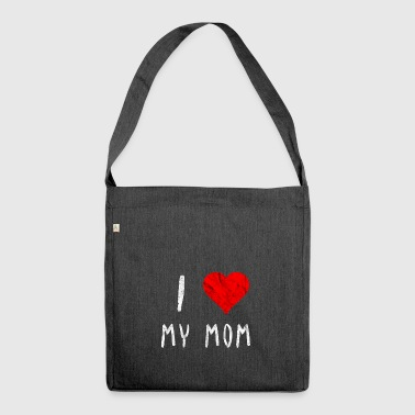 I love my mom Mom of the year gift idea - Shoulder Bag made from recycled material