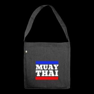 Muay Thai - Thai Boxing - Boxing - White - Shoulder Bag made from recycled material