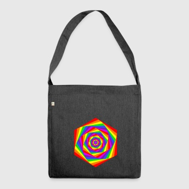 Rainbow hexagon - Shoulder Bag made from recycled material