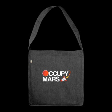 Occupy Mars Planet Space - Shoulder Bag made from recycled material