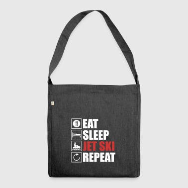 Eat,sleep,Jetski,Repeat. - Schultertasche aus Recycling-Material