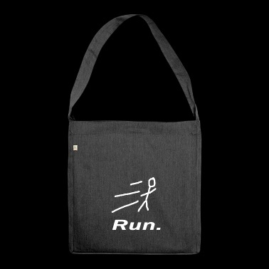 Run. Sport Running Gift Fitness - Shoulder Bag made from recycled material