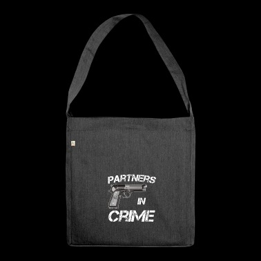 Partner of Crime Partners in Crime Idea - Shoulder Bag made from recycled material