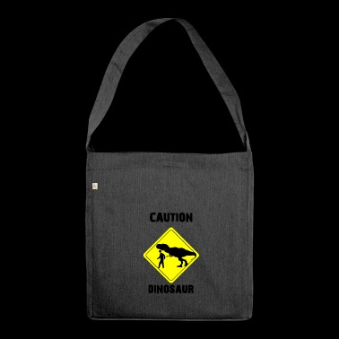 Caution Dinosaur (Stone Age Lovers) - Shoulder Bag made from recycled material