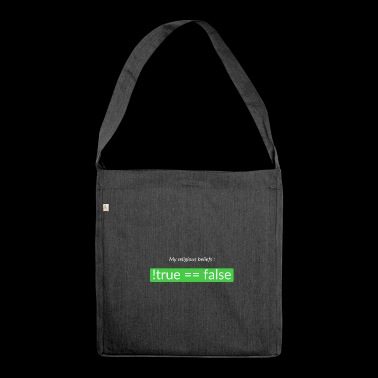 Religious beliefs - Shoulder Bag made from recycled material