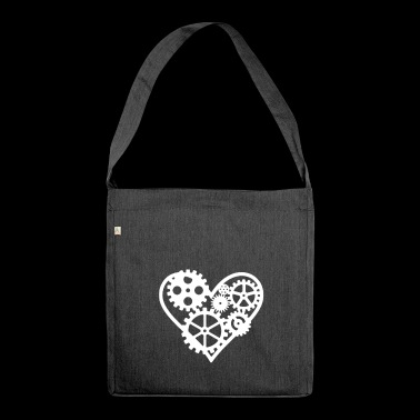 Steampunk Heart - Shoulder Bag made from recycled material