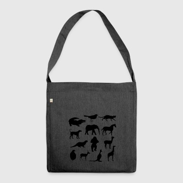 Different animals :) - Shoulder Bag made from recycled material