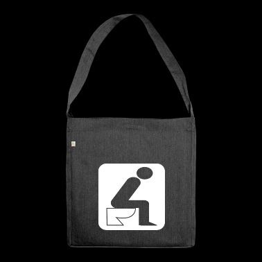 Toilet WC Bath Timeout White - Shoulder Bag made from recycled material