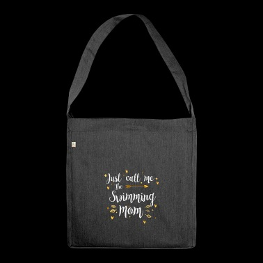 Cooles Just Call Me The Sports Swimming Mom Design - Schultertasche aus Recycling-Material