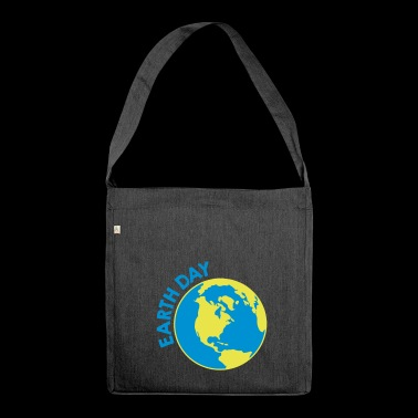 Earth Day - Shoulder Bag made from recycled material