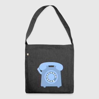 telephone telefon phone handy communication - Schultertasche aus Recycling-Material