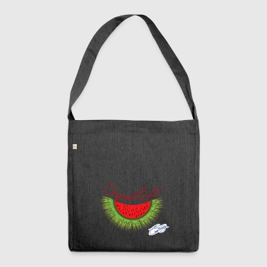 Anguric, unusual fruit, watermelon and hedgehog - Shoulder Bag made from recycled material