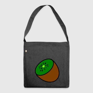 kiwi fruits fruit fruit fruit veggie vegetarian - Shoulder Bag made from recycled material