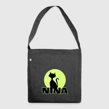 Nina Name First name - Shoulder Bag made from recycled material