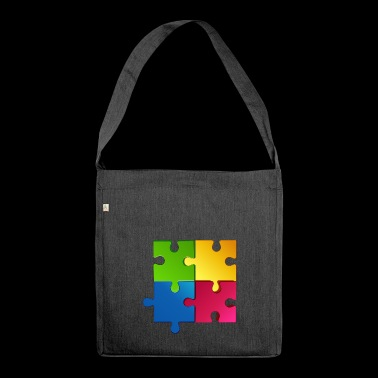 puzzle - Shoulder Bag made from recycled material