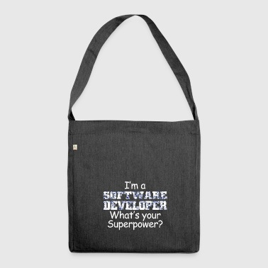 Software developer super power gift - Shoulder Bag made from recycled material