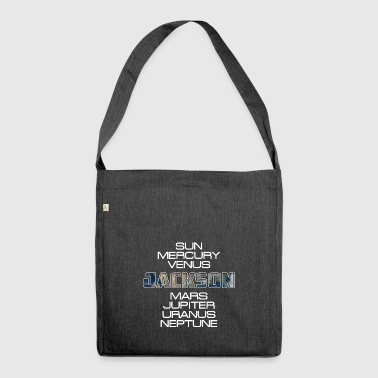 Solar System Planet Earth Jackson Gift - Shoulder Bag made from recycled material