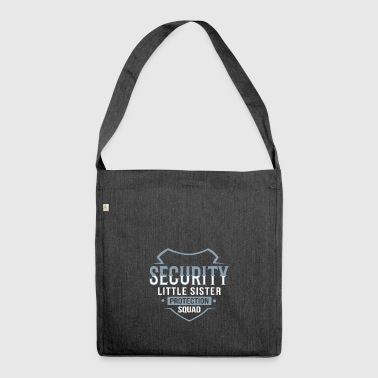 little sister, offspring, sibling security - Shoulder Bag made from recycled material