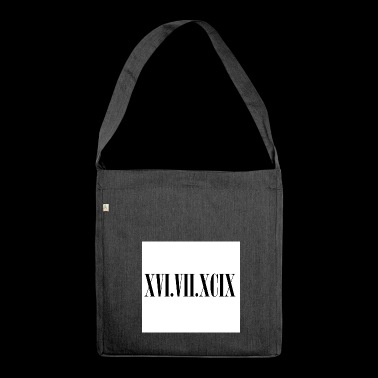 Roman numerals - Shoulder Bag made from recycled material