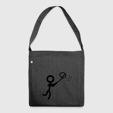 Stickman catch - Shoulder Bag made from recycled material
