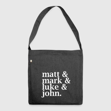 Matt, Mark, Luke & John - Shoulder Bag made from recycled material